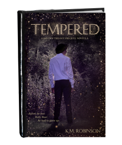 Tempered cover in book form