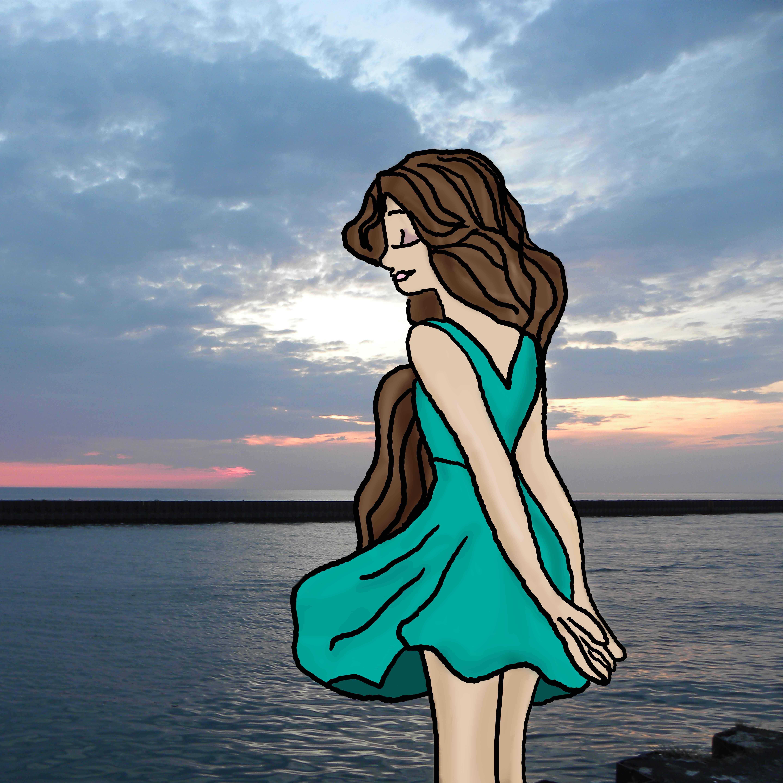 Jade in the wind sketch
