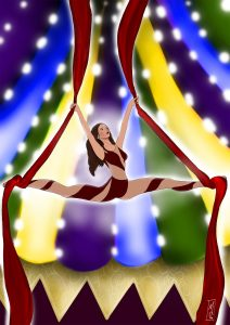 circus art call colored tweaked small
