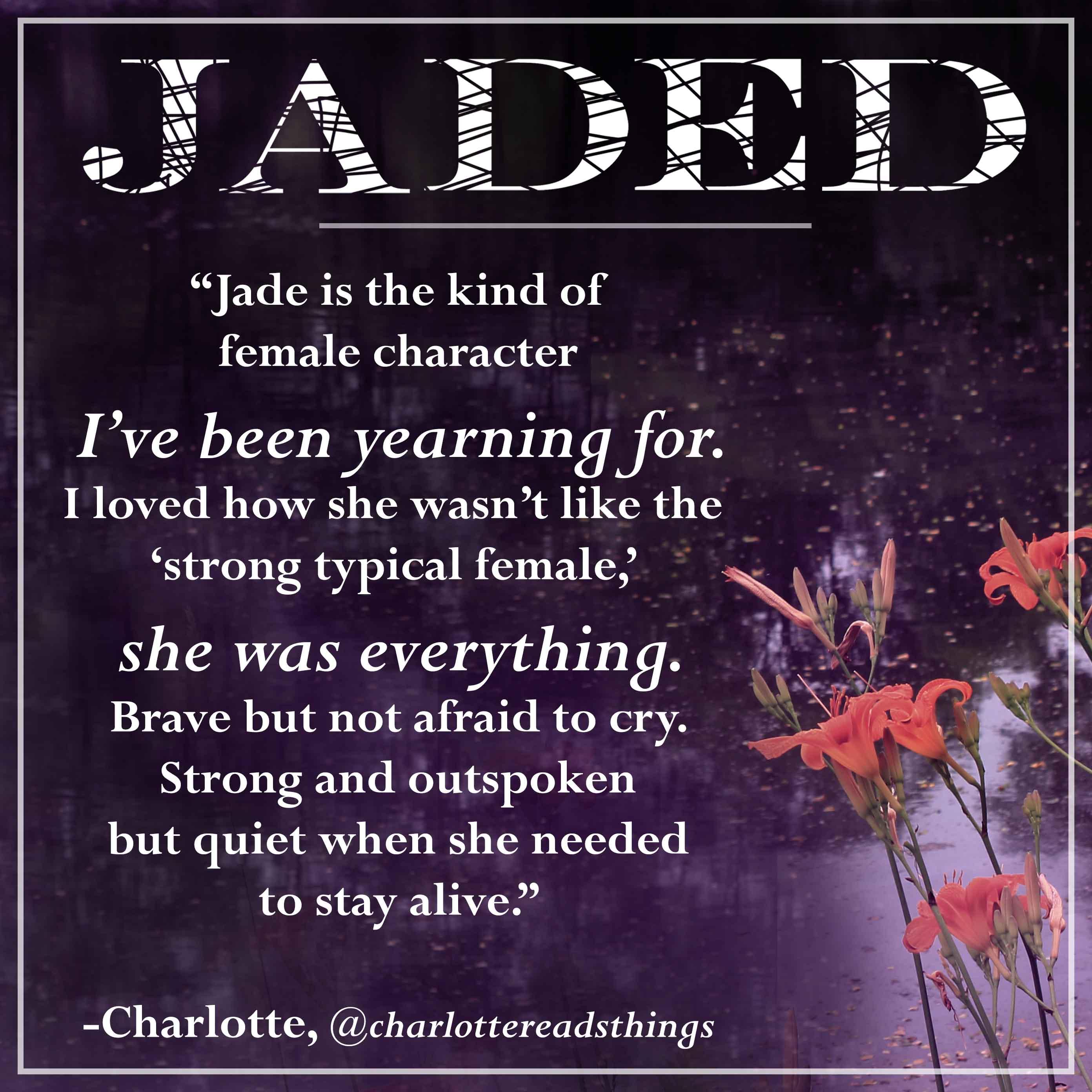 jaded fan quote-charlotte