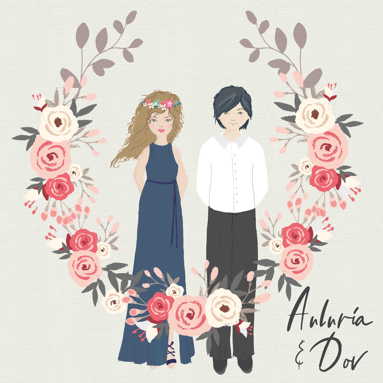 Auluria and Dov wreath2